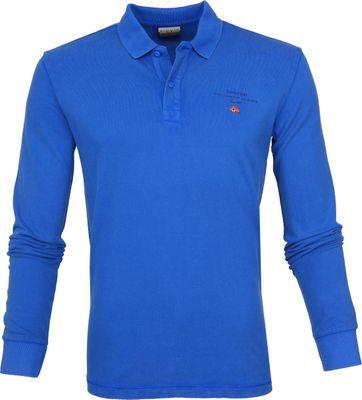 Napapijri Poloshirt Elbas 2 LS Blue