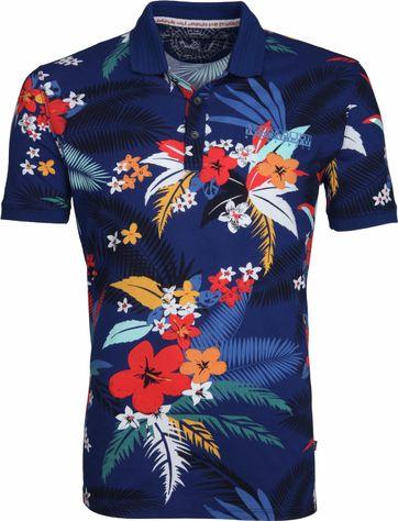 Napapijri Poloshirt Ellary Flower Indigo