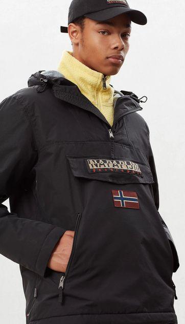 Napapijri Rainforest Winterjas Pocket Zwart