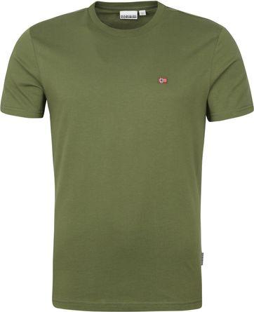 Napapijri Salis T Shirt Dunkelgrun