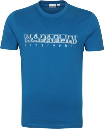 Napapijri Sallar T Shirt Blau