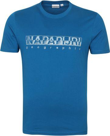 Napapijri Sallar T Shirt Blue