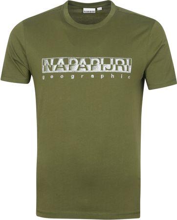 Napapijri Sallar T-shirt Donkergroen