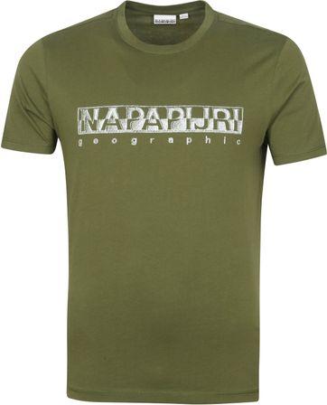 Napapijri Sallar T Shirt Dunkelgrun
