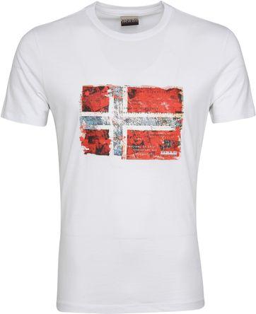 Napapijri Seitem T-shirt Wit