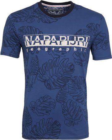 Napapijri Sellary T-shirt Denim Leaf