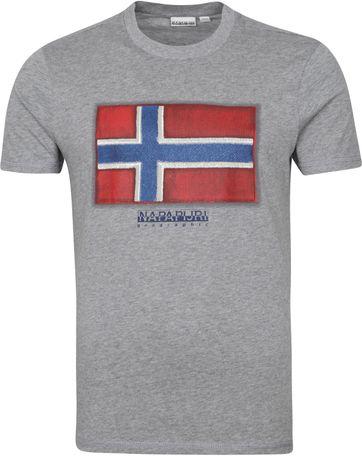 Napapijri Sirol T Shirt Grey