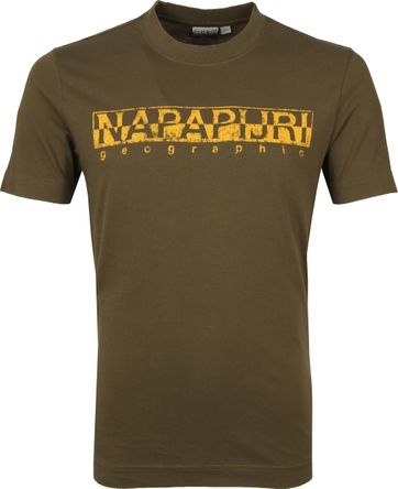Napapijri Solanos T-shirt Donkergroen