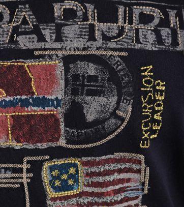 Detail Napapijri Stockton Tshirt Donkerblauw