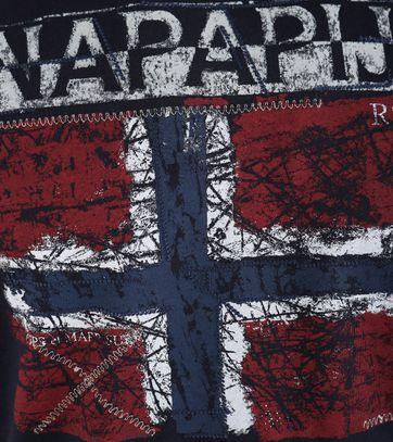 Detail Napapijri Surl Tshirt Donkerblauw