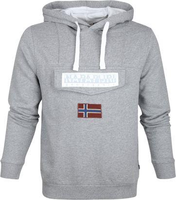 Napapijri Sweater Burgee Grau Logo