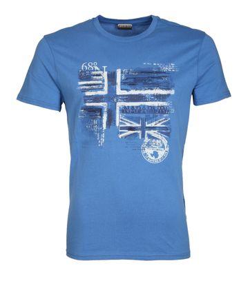 Napapijri T-shirt Sancy Print Blau