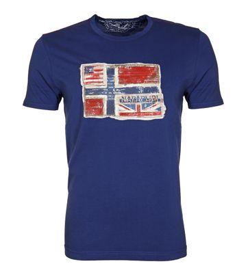 Napapijri T-shirt Senou Flag Cobalt