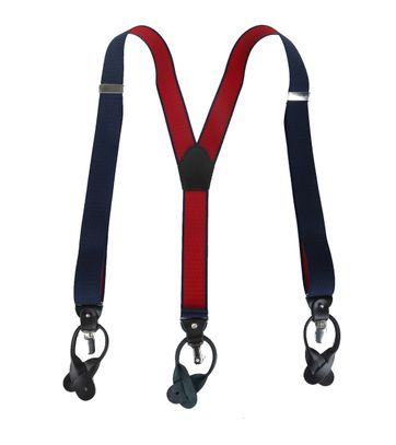 Navy-Red Suspenders
