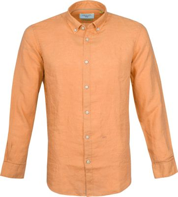 New In Town Casual Overhemd Oranje