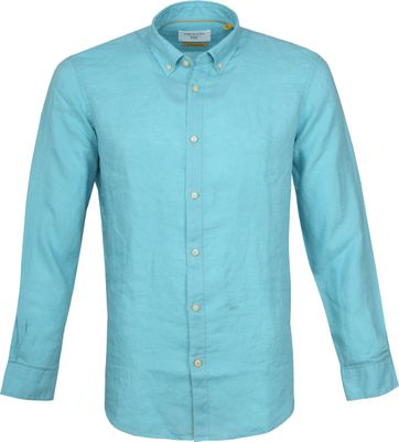 New In Town Casual Overhemd Turquoise