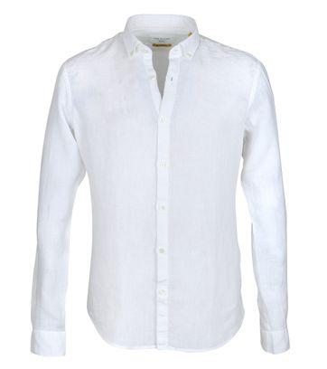 New In Town Hemd Leinen Weiß