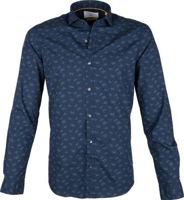 New In Town Overhemd Indigo Fietsen