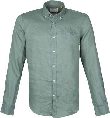 New In Town Overhemd Linnen Groen