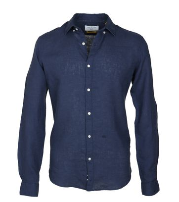 New In Town Overhemd Linnen Navy