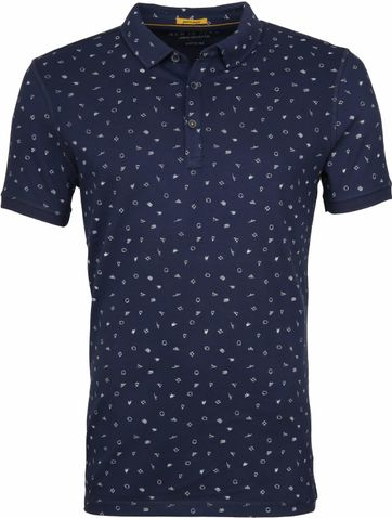 New In Town Polo Dessin Navy