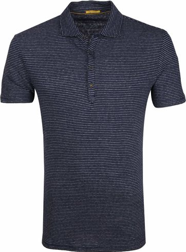 New In Town Polo Shirt Navy Stripes