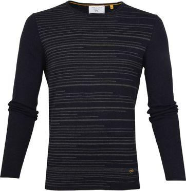 New In Town Pullover Streifen Dunkelblau
