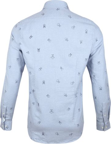 New In Town Shirt Dessin Blue