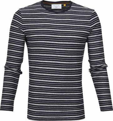 New In Town Streifen Pullover Dunkelblau