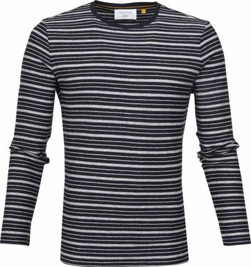 New In Town Striped Pullover Navy