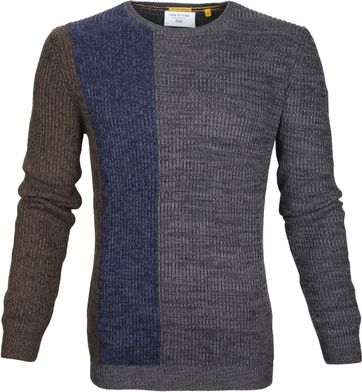 New In Town Sweater Dessin Dunkelgrau