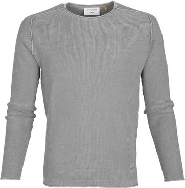 New In Town Sweater Strick Grau