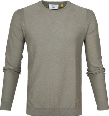 New In Town Sweater Strick Groen