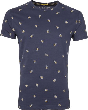 New in Town T-shirt Blauw