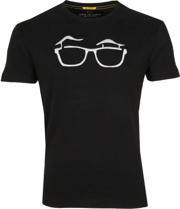 New in Town T-shirt Serafino Black