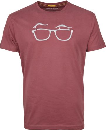 New in Town T-shirt Serafino Old Pink