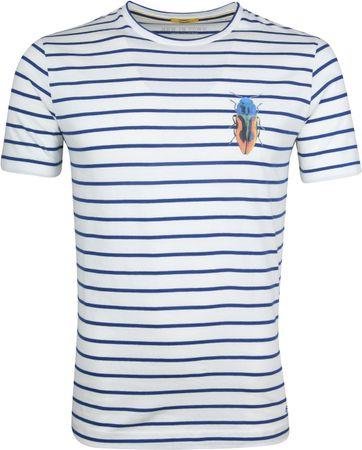 New In Town T-Shirt Streifen Weiß