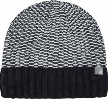 No-Excess Beanie Jacquard Dark Blue