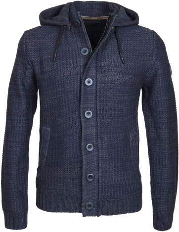 No-Excess Cardigan Capuchon Navy