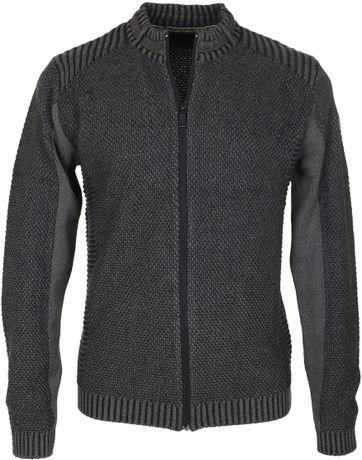 No-Excess Cardigan Dark Grey Zipper