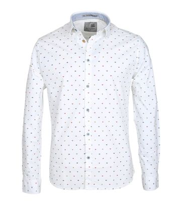 No-Excess Casual Shirt Print White