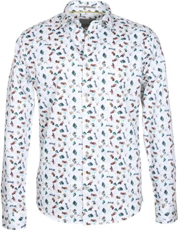 No-Excess Casual Shirt White Print
