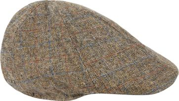 No Excess Flat Cap Melange Brown