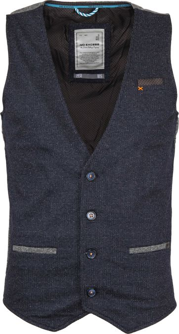 No-Excess Gilet Jacquard