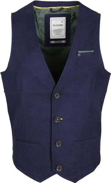 No-Excess Gilet Navy Dots