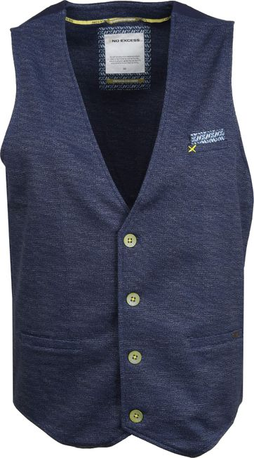 No-Excess Gilet Navy Melange