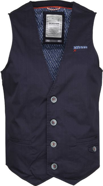 No-Excess Gilet Pin Stripe Navy