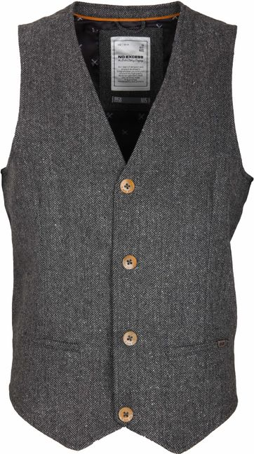 No-Excess Gilet Visgraat Antraciet