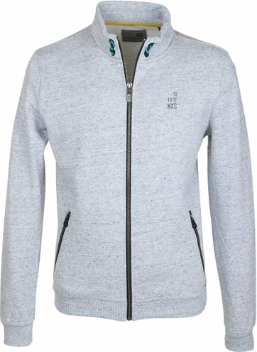 No-Excess Grey Sweat Cardigan