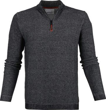 No-Excess Half Zip Dunkelgrau